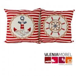 Set 2 Cojines Marinero Rojo
