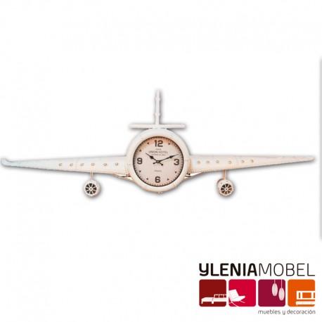 Reloj Avión Blanco